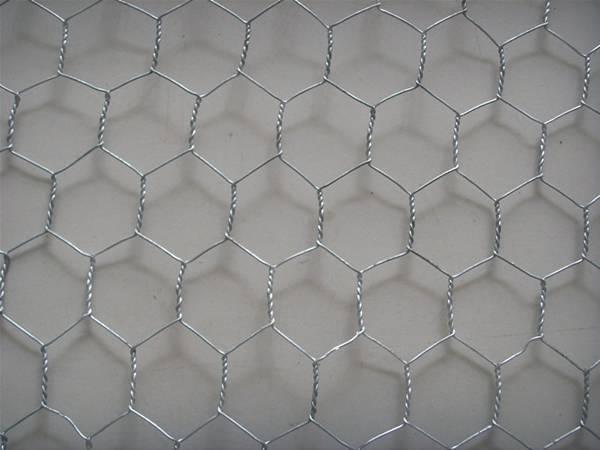 There is a galfan chicken wire mesh sheet.