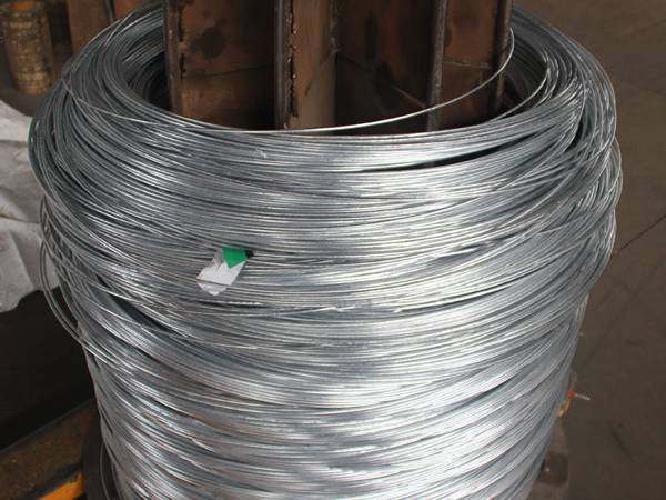 There are several galfan wire coils.