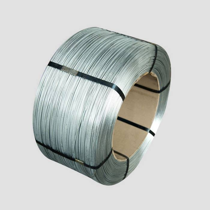 There is a Zn-Al alloy coated wire roll.